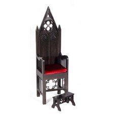Готический трон-кресло для кукол MSD/SD (от 40 до 60см)