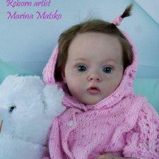 Аннушка - кукла реборн из молда Тиффани от Натали Блик. Работа Марины Мацко