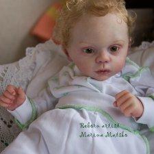 Санечка. Малыш-реборн из молда Myloh от Лаура Туцио Росс.  Работа Марины Мацко