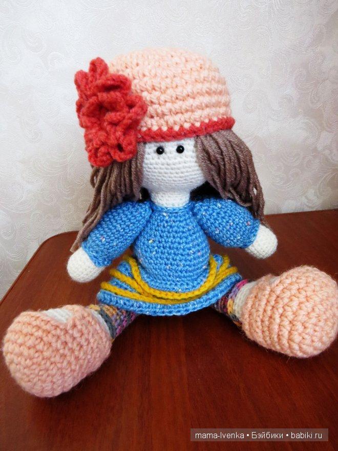 Кукла ручной работы, вязаная кукла, куклы Веселовой