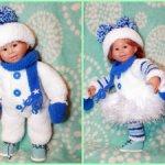 """Два новогодних костюма """"Снеговики Deep Blue"""""""