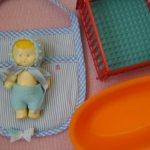 Тамбовский пупс с родным манежем и ванночкой + конвертик с одёжкой.