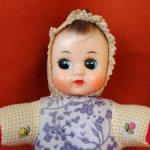 Старенькая китайская куколка 60х 16 см