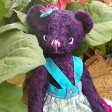 Фиолетовое настроение или мишка тедди цвета чернил