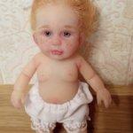 Авторская куколка из силикона.