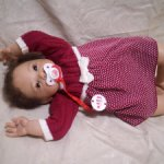 Продается малышка реборн Лулу, молд Lulu от Jen Printy