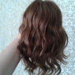 Парик для куклы. Натуральные волосы.Ог 30-31см