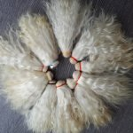 трессы козы и ламы для париков и прошивки, на шкуре и ните