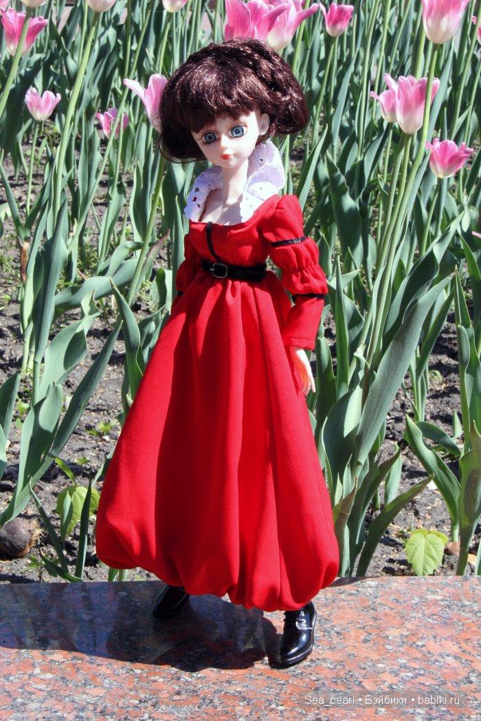 Звезда подиума, платье для БЖД, платье для куклы