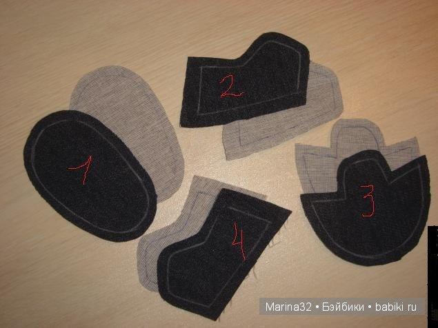 Ботинки для кукол своими руками фото 786