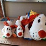 Игрушка собака-сумка-подушка со щенками