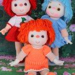 Куколки из винтажных заготовок
