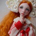 Забава - шарнирная авторская кукла Валентины Игнатьевой