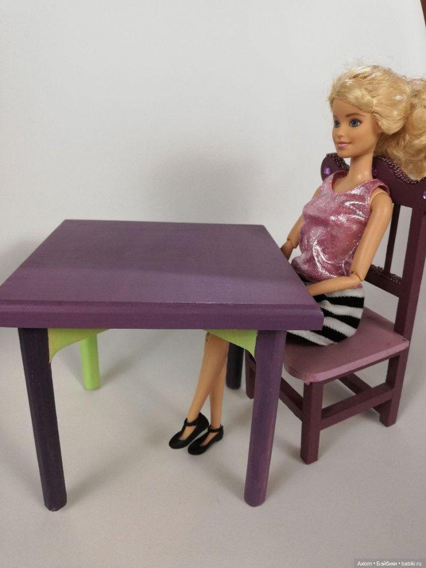 кухонный стол и стул для барбви