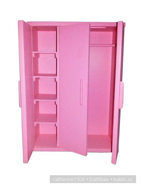 Как сделать обычный шкаф для барби