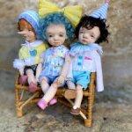 Три авторские куклы: Буратино , Мальвина и Пьеро.