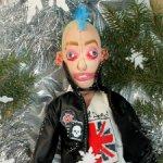 Текстильная авторская кукла панк, неформал.