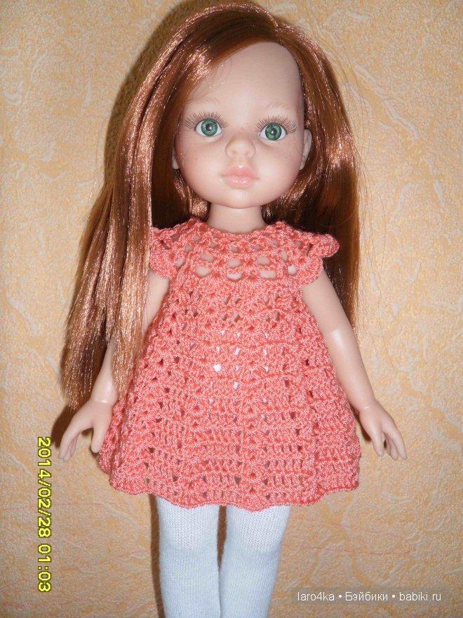 Кукле вязать крючком платье