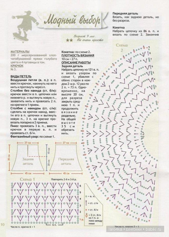 Схема для юбки для барби крючком