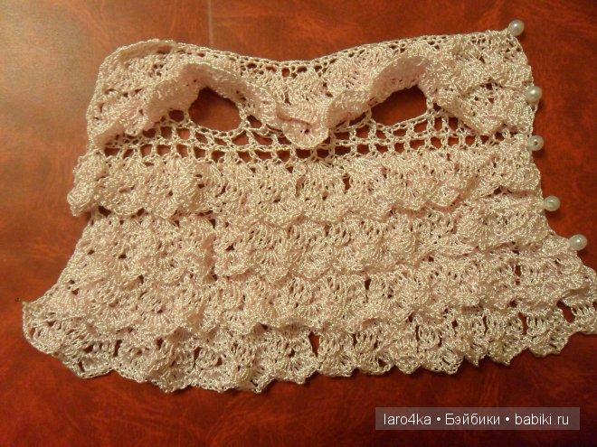 уроки вязания крючком платье сарафан по мотивам юбки вязание для