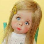 Эльфик Мироша, блондиночка с прямыми волосами, авторская шарнирная кукла из полиуретана, фулсет