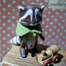 Мишки,белки,котики и другие деревянные зверята (миниатюра)
