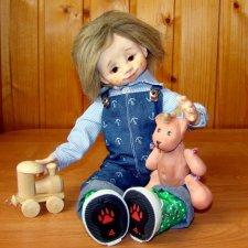 Тимоша, моя новая куколка в смешанной технике