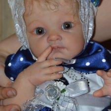 Дея, или нежный одуванчик, малышка реборн Poppet от Adrie Stoete