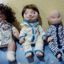 Мои авторские Пучеглазики, мягкие текстильные человечки