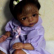 Малютка мулаточка. Кукла реборн Наталии Коноваловой