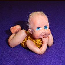 """Авторская мини кукла """"Смотреть на мир широко раскрытыми глазами"""" от Анастасии Солнцевой"""