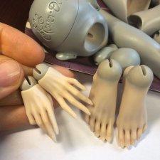Процесс лепки мастер-модели девушки 42-43 см от Жуковой Мари, часть 2