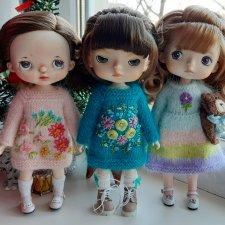 Три вязаных платьица для Холалы и Xiaomi monst