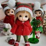 Новогодние комплекты для малышек Стодолл