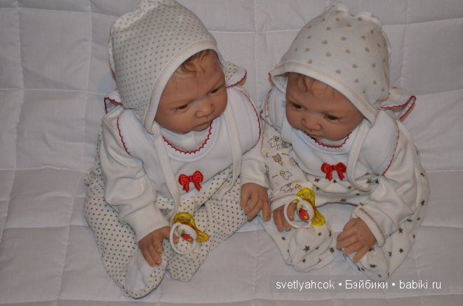 Крошки близнецы Софья и Мария. Куклы реборн Светланы Шиловой