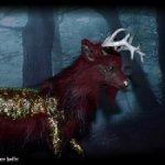 Волшебный олень, авторская подвижная мягкая скульптура.