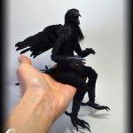 Авторская шарнирная кукла ворон антропоморф BJD
