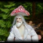 Авторская шарнирная кукла гном-гриб Дед мухомор BJD