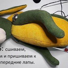 Мастер-класс мягкая игрушка заяц Zlata's fantasy dolls Часть 4,5
