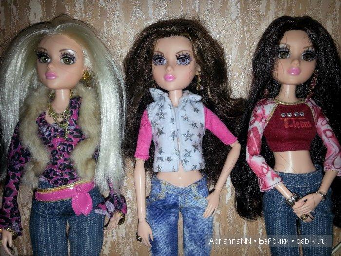 Белокурая кареглазка Анхела, шатенка с серыми глазами Кристина и брюнетка с карими глазами Андриана. Тоже все три куколки Тристен.