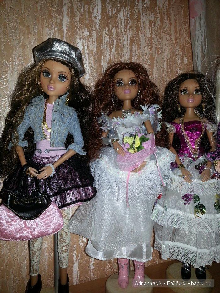 Еще одна а-ля Аризона - Мелроуз в ее аутфите и образе. И две красотки принцессы,тоже Мел - одна рыжуля с карими глазами, а вторая с зеленовато-карими от Бижу третьего выпуска и светло-каштановыми волосами.