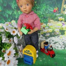 """Все из нашего района уважают почтальона. Люк Sylvia Natterer и его набор Лего Дупло 5638 """"Почтальон"""""""