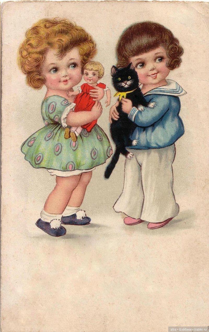 Картинки открытки мальчики и девочки