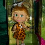 Кукла Маша в леопардовом костюме Машка в кармашке новая в коробке из мультфильма