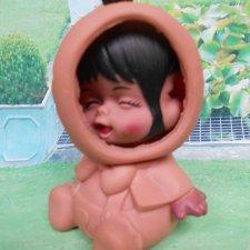 Кукла  Hong Kong редкая из 1960х гг 3 личика эмоции