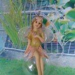 Куколка Фея елочная пластик Девочка на шаре