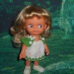 Кукла ГДР немецкая Германия Гномик Кьюпи очень длинные волосы