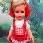 Кукла 3М гдр винтаж Еngel Красная Шапочка немецкая Германия 30 см  редкая