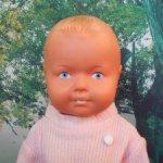 Кукла редкая немецкая в родном Германия ГДР пупс резиновый