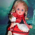 Кукла 3М гдр немецкая Германия редкая Красная Шапочка редкая